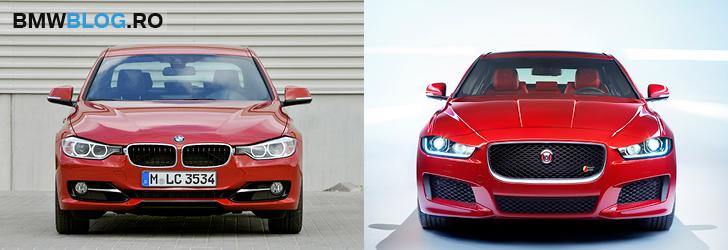 Jaguar XE vs BMW Seria 3 - fata