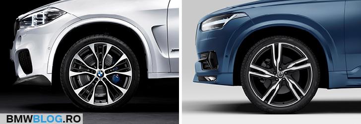 BMW X5 vs noul Volvo XC90 detaliu janta