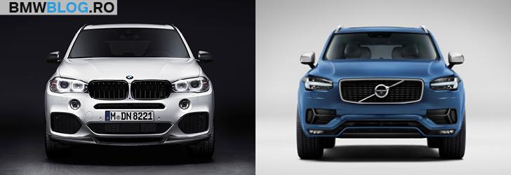 BMW X5 vs noul Volvo XC90 fata