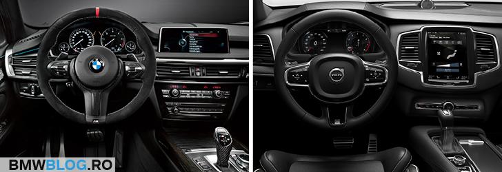 BMW X5 vs noul Volvo XC90 interior