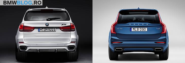 BMW X5 vs noul Volvo XC90 spate