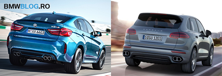 BMW X6 M vs Porsche Cayenne Turbo - spate