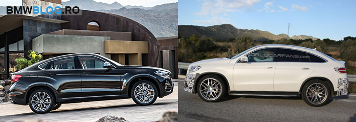 BMW X6 vs Mercedes GLE - lateral