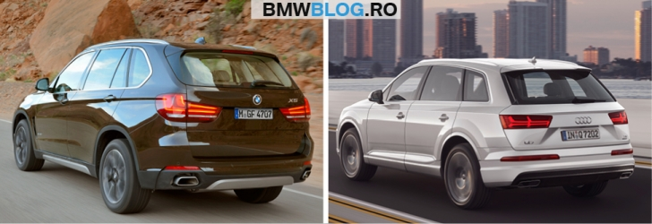 Noul Audi Q7 vs BMW X52