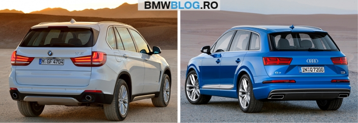 Noul Audi Q7 vs BMW X54