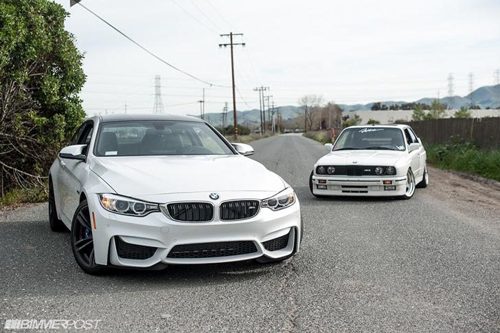BMW M4 F82 vs. BMW M3 E30