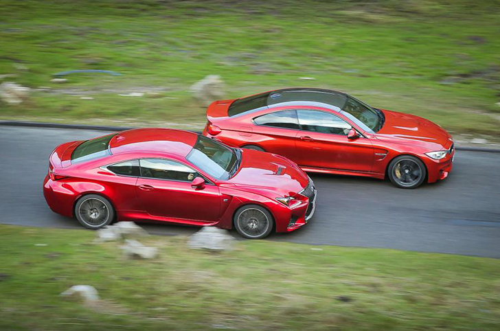 BMW M4 vs. Lexus RC-F