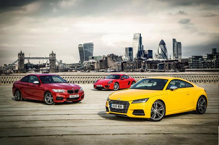 BMW M235i vs. Audi TT S vs. Porsche Cayman