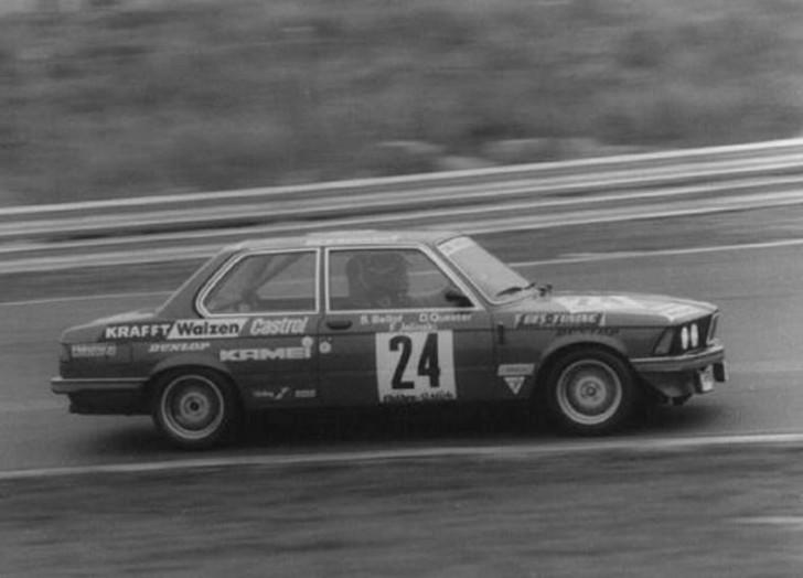 Alături de Frank Jelinski și Dieter Quester în prima cursă importantă din carieră: cele 24 de ore de pe Nurburgring din 1982, cu BMW