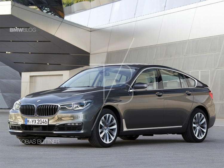 Viitorul BMW Seria 5 GT - randare