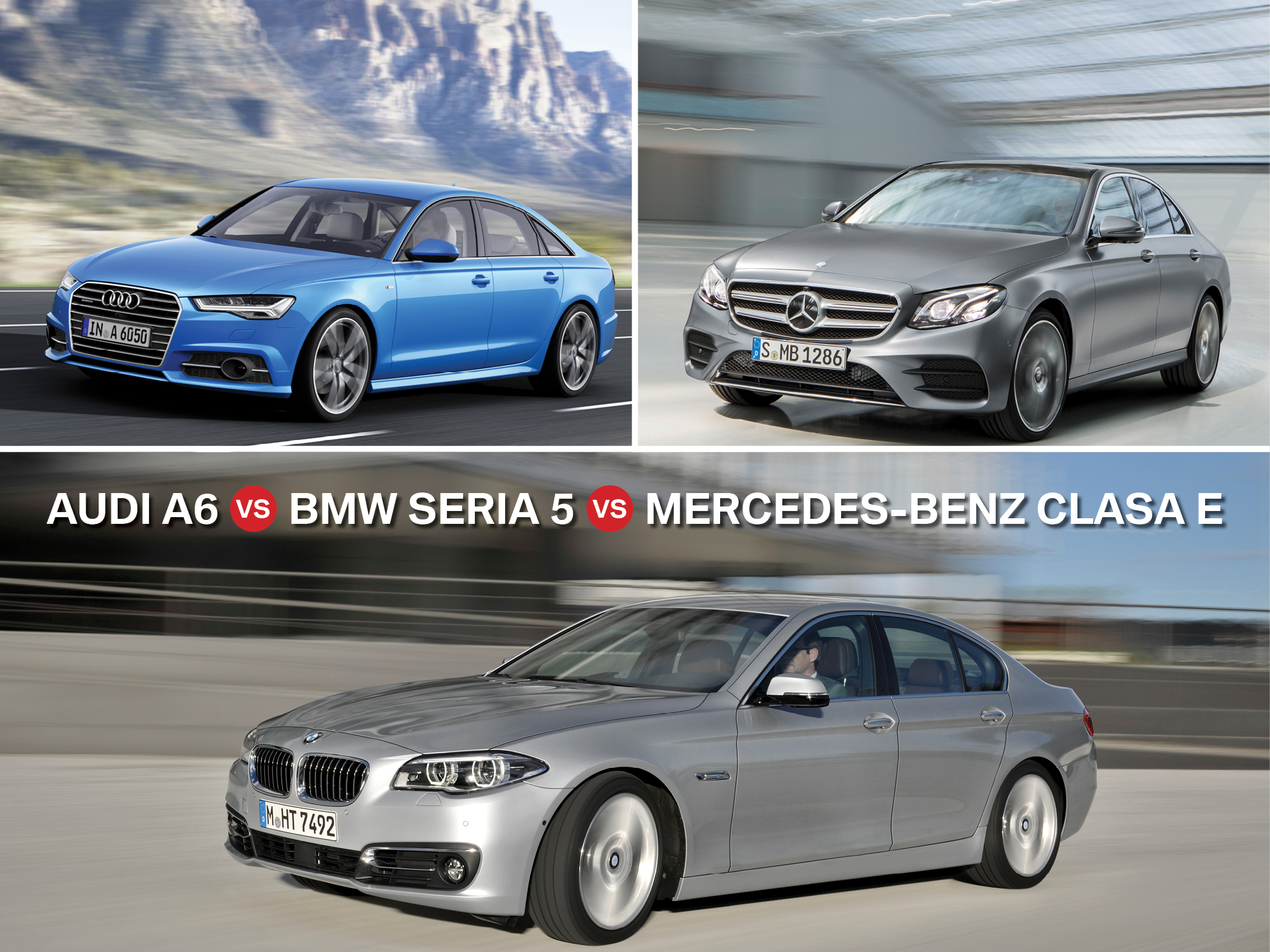 Audi a6 vs bmw seria 5 vs mercedes benz clasa e limuzine for Bmw and mercedes benz