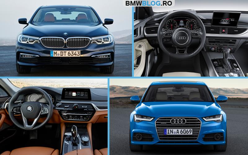 Noul BMW Seria 5 vs Audi A6