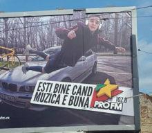 ProFM, un BMW pe Bulgaria și un outdoor făceau reclamă