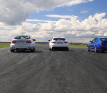 BMW M3 vs Alfa Romeo Giulia QV vs Cadillac ATS-V – Liniuța de joi