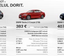 BMW Select propune rate lunare mici pentru utilizarea modelelor noi, fără obligația achiziției