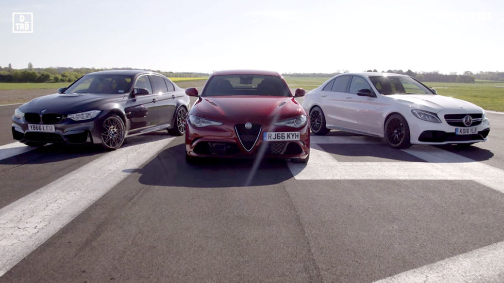 Bmw m4 vs mercedes c63 amg vs alfa romeo giulia qv for Alfa romeo vs mercedes benz