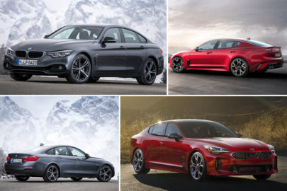 Kia Stinger vs BMW Seria 4 Gran Coupe