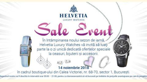Helvetia Luxury Watches vă invită la o zi a ofertelor pentru mărci de elită