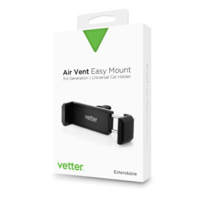 Suport auto universal | Vetter | Air Vent Easy Mount | Negru