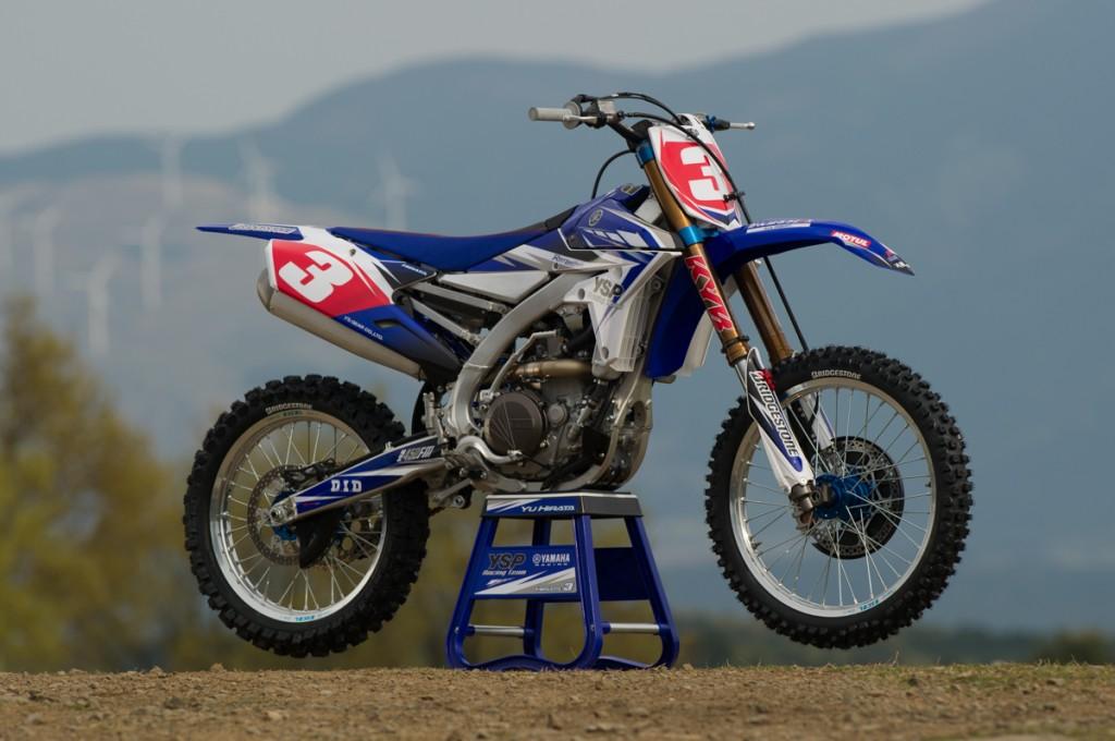 Prototip al noului model de motocros Yamaha YZF 450 2014 vazut in campionatul japonez