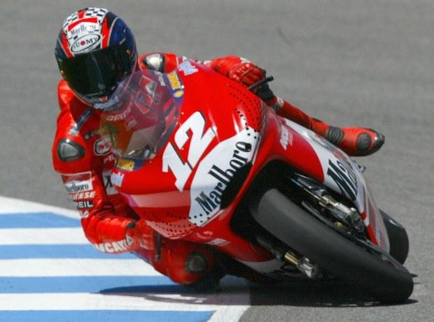 Australian Troy Bayliss rides his Ducati
