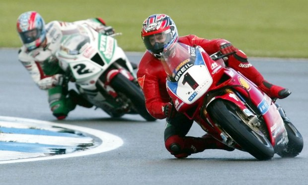 Australia's Troy Bayliss on Ducati vies with secon