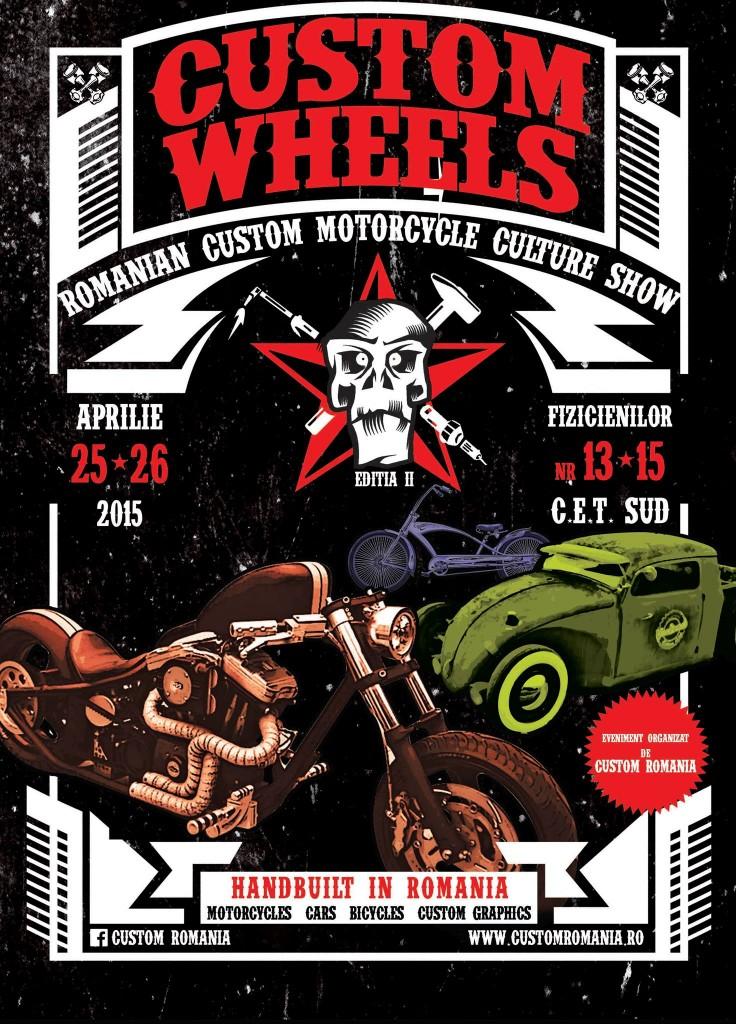 Custom Wheels, un eveniment pentru iubitorii de motociclete deosebite