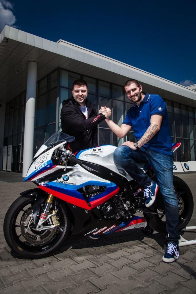 Parteneriat de imagine intre BMW Motorrad Romania si Catalin Cazacu