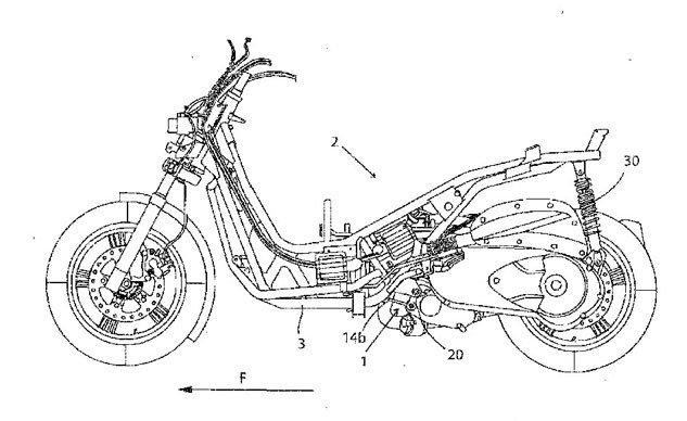 BMW înregistrează un patent pentru un scuter de cilindree mică