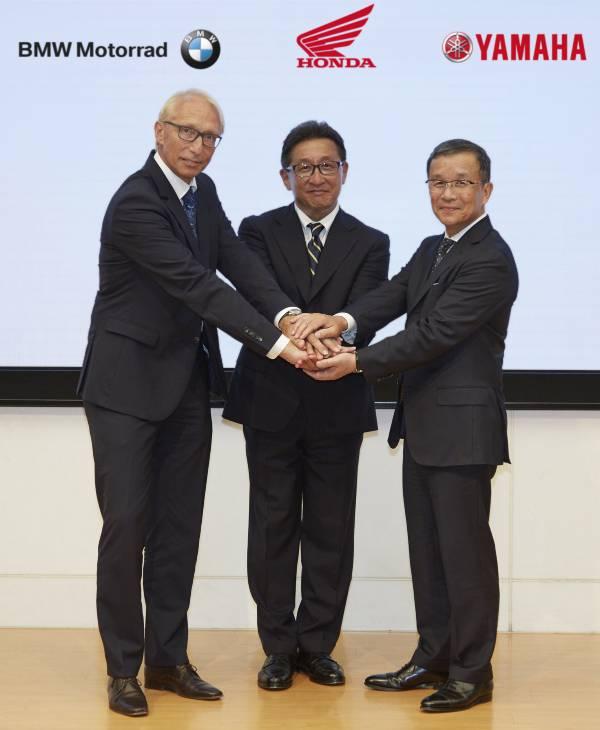 BMW Motorrad, Honda și Yamaha semnează un parteneriat pentru siguranță
