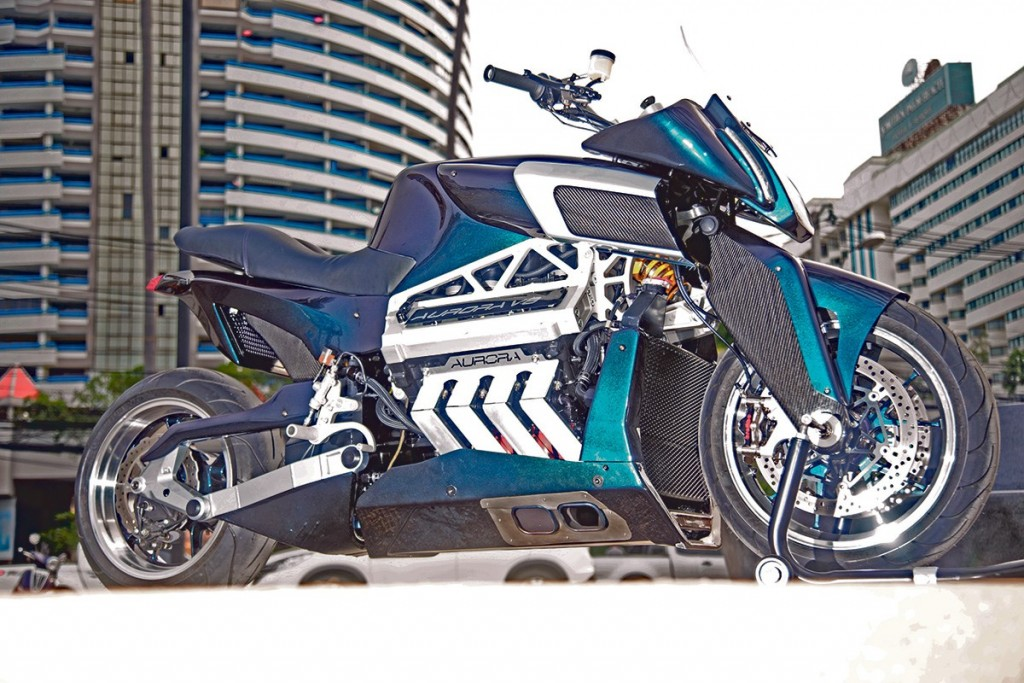 Aurora Motorcycles V8: mai multă putere decât Kawasaki H2R!