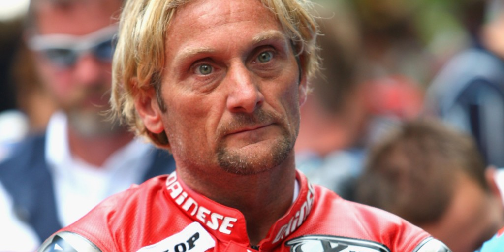 CHICHESTER, UNITED KINGDOM - JULY 13: Former world superbike champion Carl Fogarty at the Goodwood Festival of Speed on July 13, 2008 in Chichester, England (Photo by Mark Thompson/Getty Images)
