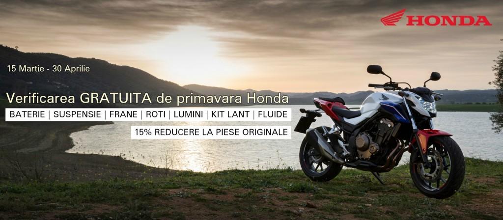 Honda lansează campania de verificare gratuită de primăvară pentru toți posesorii de motociclete Honda