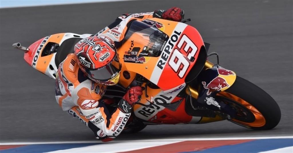 Marquez în pole-position pentru cursa de azi, urmat de Rossi și de Lorenzo