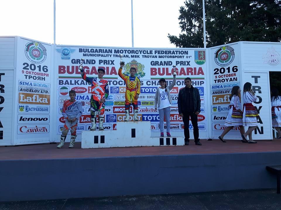 Aida Cojanu, pe locul trei la clasa MX65 in Campionatul Est-European de Motocros