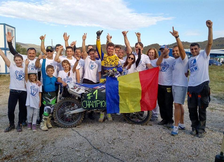 Adrian Răduță devine campion est-european la motocros pentru a patra oară