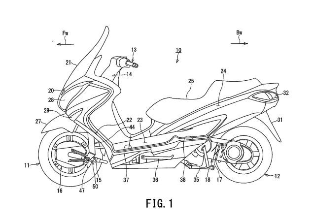 Suzuki a depus un patent pentru un scuter hibrid 2WD