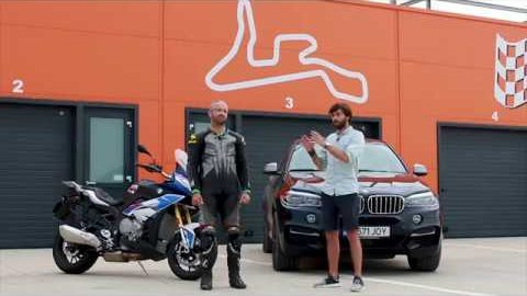 [VIDEO] BMW S 1000 XR vs BMW X 6 M50d pe circuit